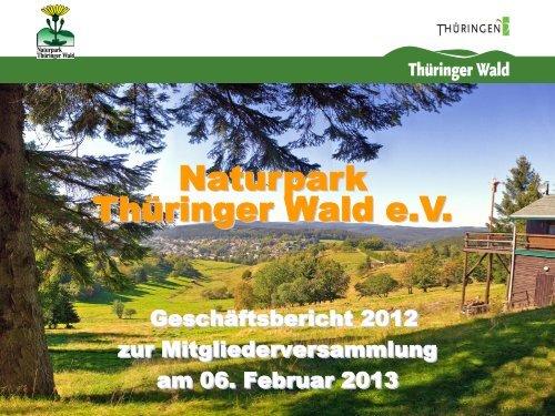NP Projekte 2008 - Naturpark Thüringer Wald