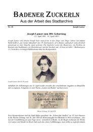 Nr. 18, Joseph Lanner zum 200. Geburtstag - Baden