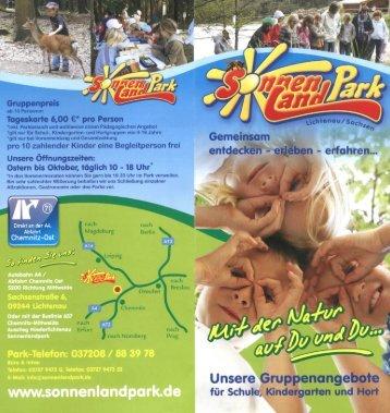 Informationsprospekt Kindereinrichtungen - Sonnenlandpark