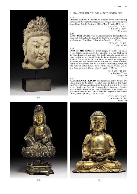 CHINA: SKLPTUREN UND KUNSTHANDWERK - Koller Auktionen