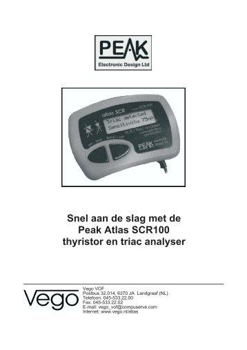 Vego VOF: snel aan de slag met de Peak Atlas SCR100 thyristor en ...