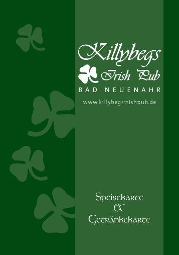 Speisekarte & Getränkekarte - Killybegs Irish Pub