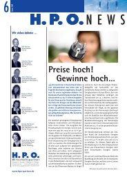 2009 Ausgabe 6 H.P.O. News - HPO Wirtschaftspartner