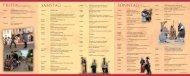 Programm zum Burg - Schloss Moritzburg