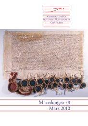 Mitteilungen 78 März 2010 - Geschichte in Schleswig-Holstein
