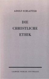 DIE CHRISTLICHE ETHIK - Offenbarung.ch