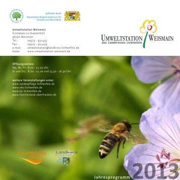 Jahresprogramm 2013 (1127 kB) - in Lichtenfels - Bayern