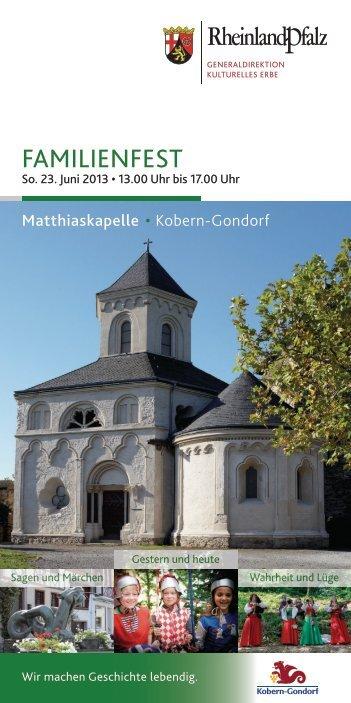 Familienfest Matthiaskapelle 2013 - Generaldirektion Kulturelles ...