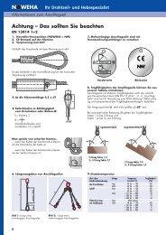 Informationen Anschlagseil - NOWEHA - Drahtseil- und Hebetechnik