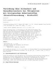 Biostoffverordnung - ABC-Lindt.de