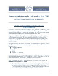 Bourses de premier cycle de la FCGC - the Canadian Engineering ...