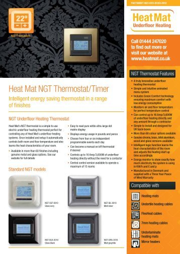 Heat Mat NGT Thermostat/Timer - Heat Mat Ltd