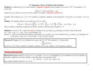 Theory of IVP and Euler's Method