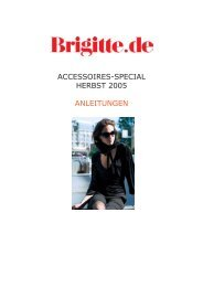 ACCESSOIRES-SPECIAL HERBST 2005 ANLEITUNGEN - Brigitte