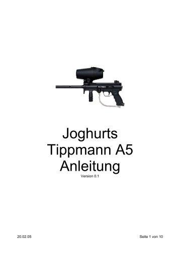 Joghurts Tippmann A5 Anleitung