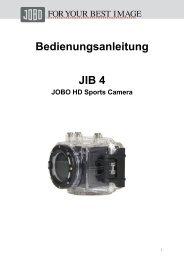 Bedienungsanleitung JIB 4 - Jobo