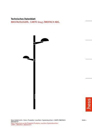 Technisches Datenblatt MASTAUSLEGERL. CANTO ... - Hess AG