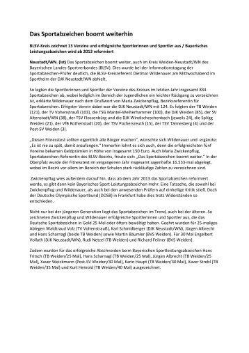 WEN Sportabzeichen neu 2011 - Bayerischer Landes-Sportverband ...