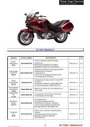 1 NT 700V ''DEAUVILLE'' - Honda