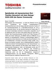 Spielbolide mit dynamischem Rot: Toshiba fokussiert mit dem ...
