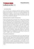 Spielbolide mit dynamischem Rot: Toshiba fokussiert mit dem ... - Page 3