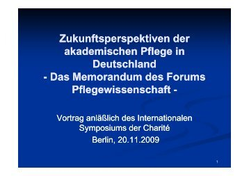 Zukunftsperspektiven der akademischen Pflege in Deutschland