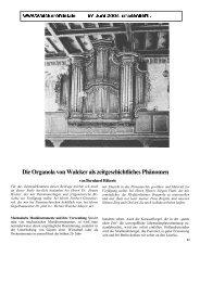 Die Organola von Walcker als ... - Walcker Orgelbau