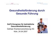 Gesundheitsförderung durch Gesunde Führung - Betriebliches ...