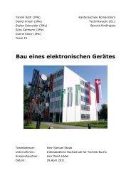 Bau eines elektronischen Gerätes - Kantonsschule Romanshorn