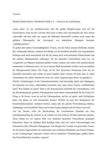 Vorwort Monika Schulz-Strelow - FidAR eV – Die Initiative für mehr ...