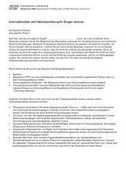 Informationsblatt und Patientenerklärung für Zeugen Jehovas - im ...