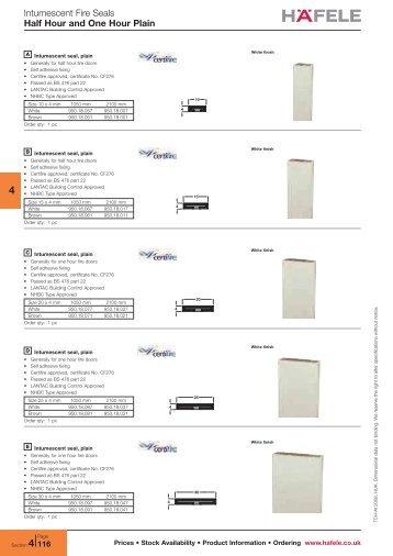 Intumescent Fire Seals - RIBA Product Selector