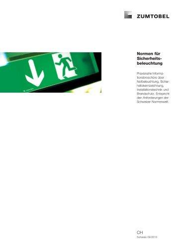 Normen für Sicherheits- beleuchtung CH