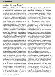 Nachruf auf Prof. Karl Lennert - Schleswig-Holsteinisches Ärzteblatt