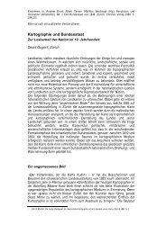 Kartographie und Bundesstaat - Technikgeschichte der ETH Zürich