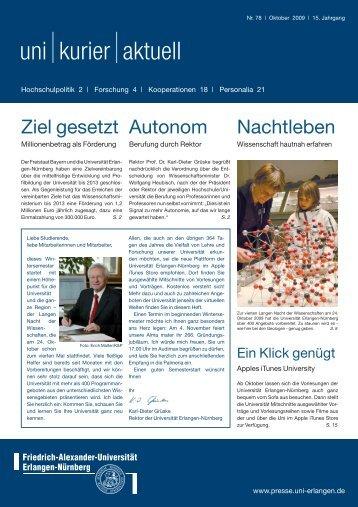 uni kurier aktuell nr. 78 - Friedrich-Alexander-Universität Erlangen ...