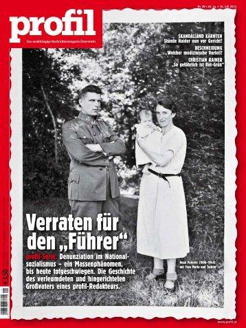 """Verraten für den """"Führer"""" - Alternativer Medienpreis"""