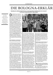 Die Bologna-Erklärung und ihre Folgen - Technische Universität ...
