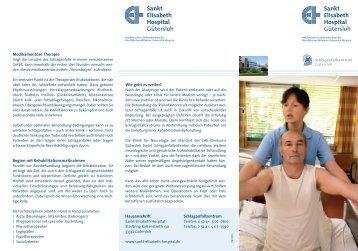 Flyer Schlaganfall - Sankt Elisabeth Hospital
