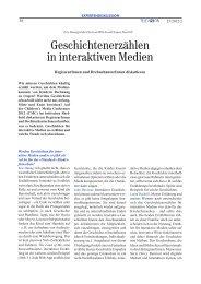 Geschichtenerzählen in interaktiven Medien - Bayerischer Rundfunk