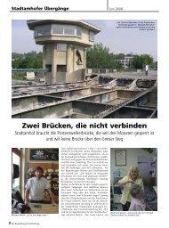 Protzenweiherbrücke (242 kb) - Regensburger Stadtzeitung