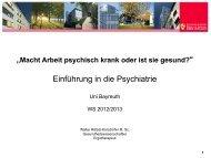 Macht Arbeit psychisch krank?
