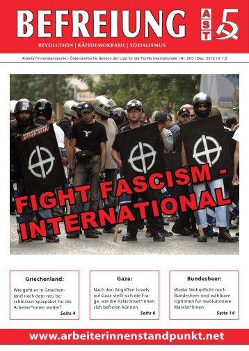 Befreiung 203, Dezember 2012: Fight Fascism – International