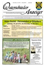 Heher Feschd - Patronatsfest in Göttelborn - Gemeinde Quierschied