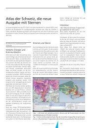 Atlas der Schweiz, die neue Ausgabe mit Sternen La nouvelle ...