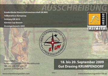 18. bis 20. September 2009 Gut Drasing KRUMPENDORF