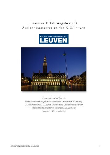 Erasmus-Erfahrungsbericht Auslandssemester an der KULeuven