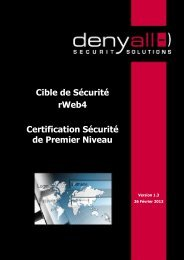 Cible de Sécurité rWeb4 Certification Sécurité de Premier ... - Anssi