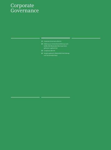 Siemens-Geschäftsbericht 2010, Corporate Governance