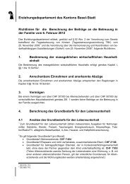 Briefvorlage Kanton BS - Erziehungsdepartement
